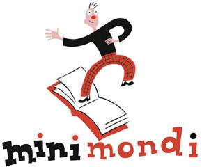 Il logo di Minimondi, il Festival di letteratura per ragazzi e bambini di Parma