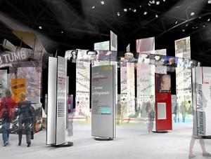 Una ricostruzione su come sarà costituita la mostra all'Oval di Torino