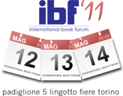 IBF, il 12,13 e 14 Maggio al Salone del Libro di Torino