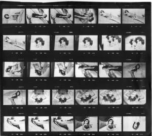 Foto dell'autrice durante il periodo di lavoro nel mondo del cinema